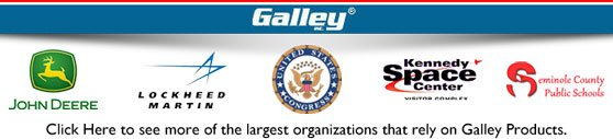 Click Here to see more of the largest organizations that rely on Galley Products.